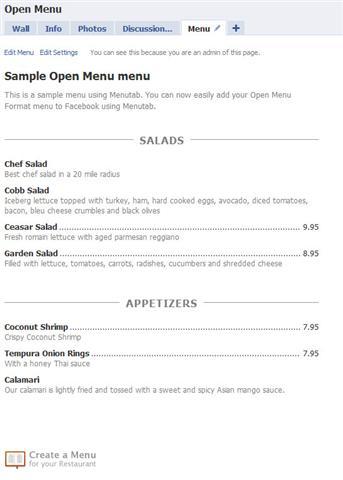 Your menu