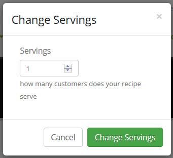 change serving