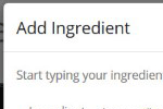 Easily Add Ingredients