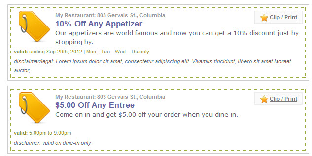 Doc512294 Free Lunch Coupon Template coupons template 87 – Free Lunch Coupon Template