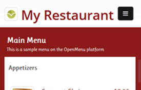 OpenMenu Mobile