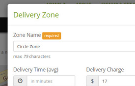 Manage Delivery Zones